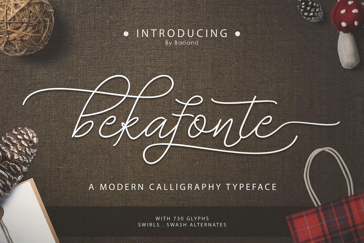 BIG PACKAGE - Font Bundle - 90% Off - 09 Bekafonte -