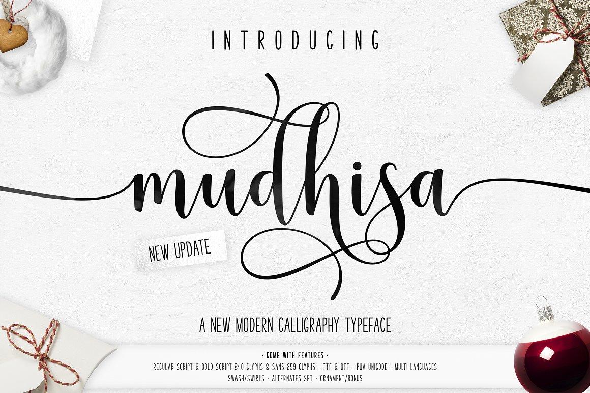 BIG PACKAGE - Font Bundle - 90% Off - 19 Mudhisa Script -