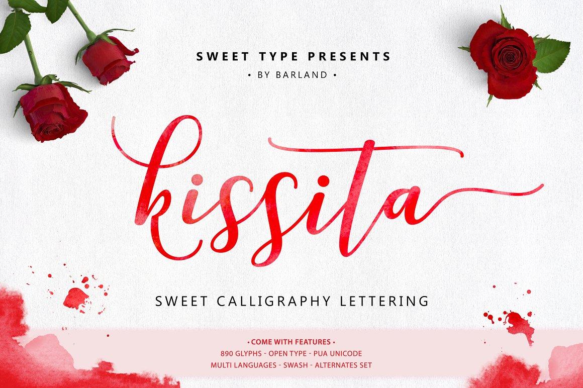 BIG PACKAGE - Font Bundle - 90% Off - 26 Kissita Script -