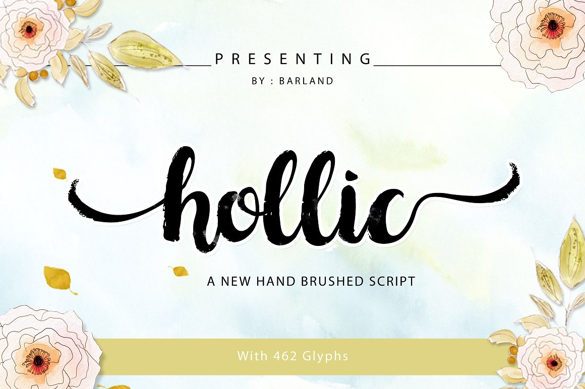 BIG PACKAGE - Font Bundle - 90% Off - 33 Hollic Brush -