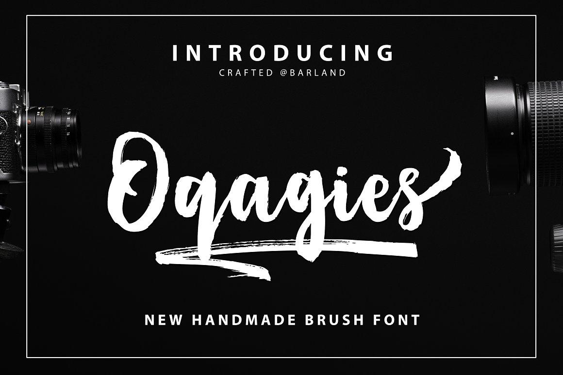 BIG PACKAGE - Font Bundle - 90% Off - 35 Oqagies Brush -