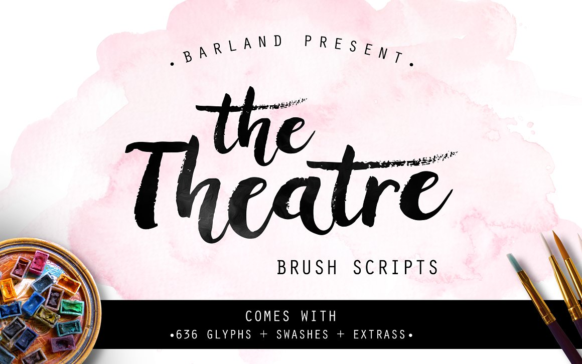 BIG PACKAGE - Font Bundle - 90% Off - 37 The Theatre Brush -