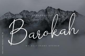 All Freebies - Barokah Signature by Alifinart Studio Free Font Project 01 -