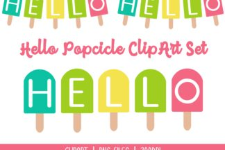 All Freebies - Hello Popcicle ClipArt -