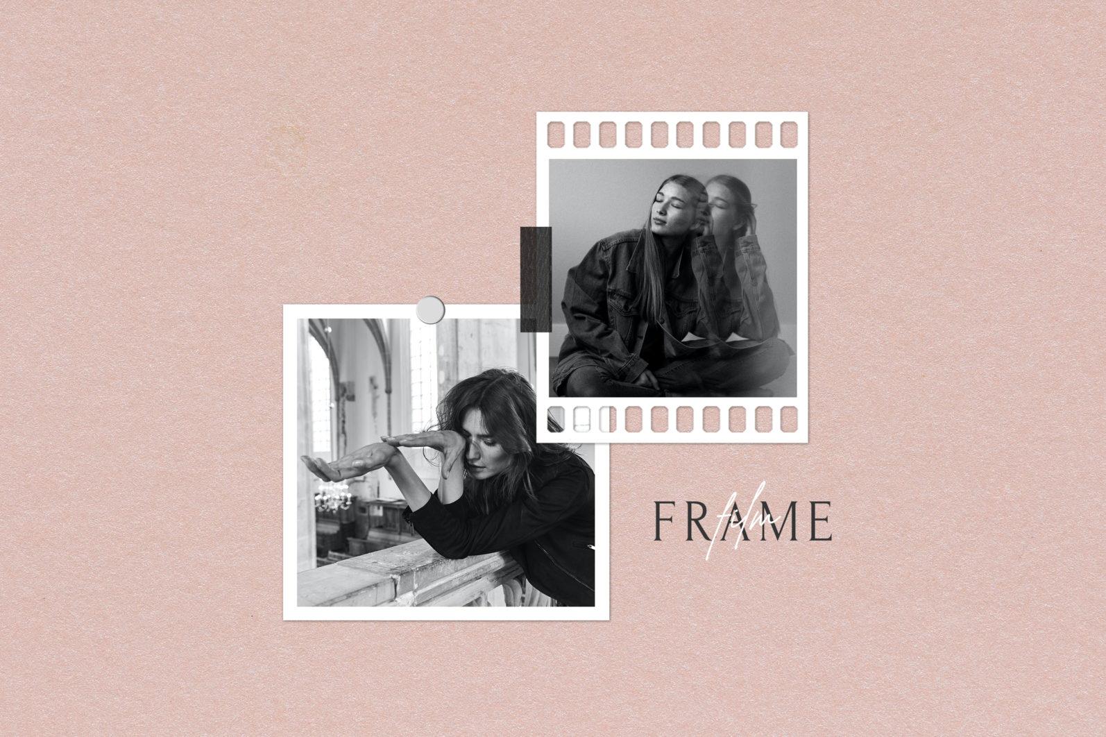 Frame Mockup #1416, White Portrait Photo Frame Mockup, Film Frame Mockup - 1416 Preview 1 scaled -