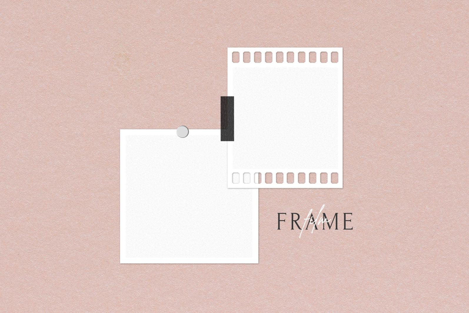 Frame Mockup #1416, White Portrait Photo Frame Mockup, Film Frame Mockup - 1416 Preview 2 scaled -