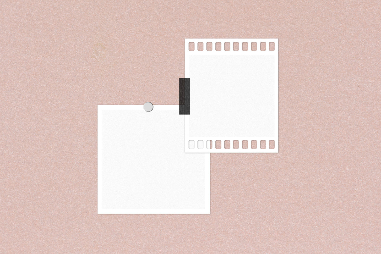 Frame Mockup #1416, White Portrait Photo Frame Mockup, Film Frame Mockup - 1416 Preview 3 scaled -