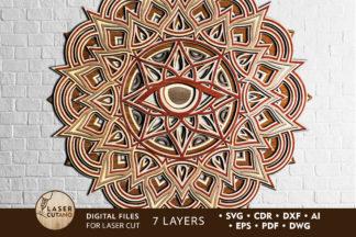 Free SVG Files - mandala 6 laser cut files lasercutano cover -