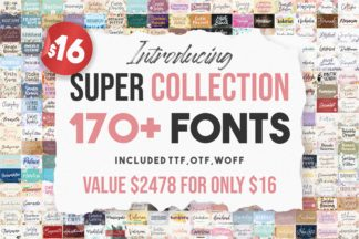"""<span style=""""display: none"""">Font Bundles</span> - Super Collection 177 fonts -"""