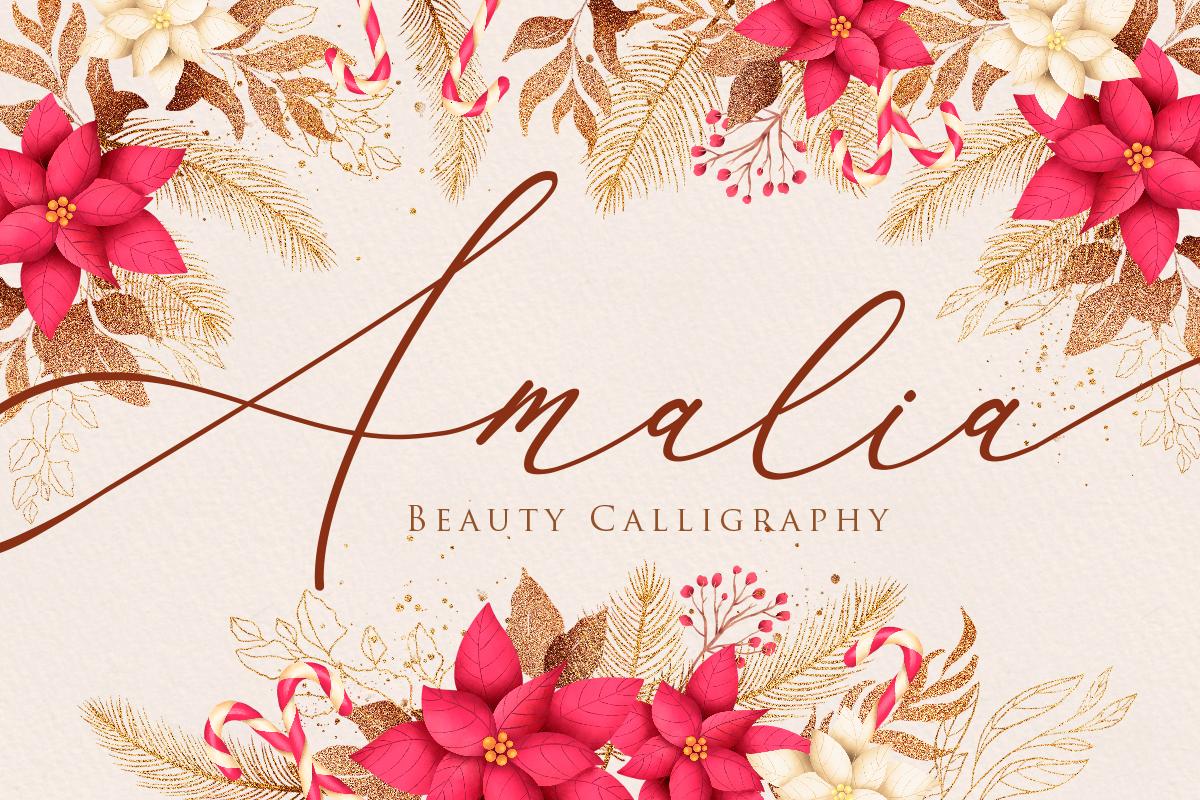 Amalia Script Calligraphy - Amalia Beauty Calligraphy -