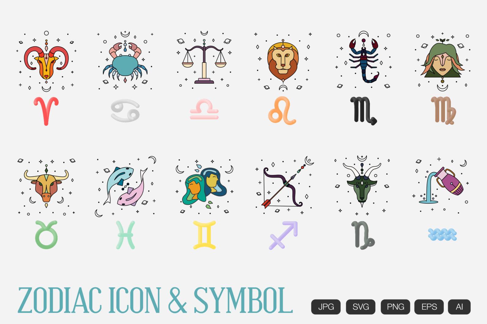 Zodiac Icon & Signs - scr 3 -