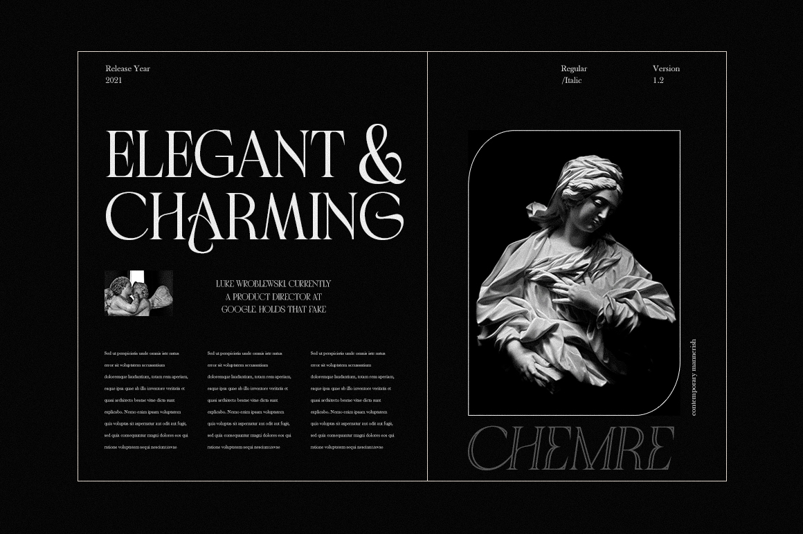 Chemre - Elegant Serif - 3 187 -