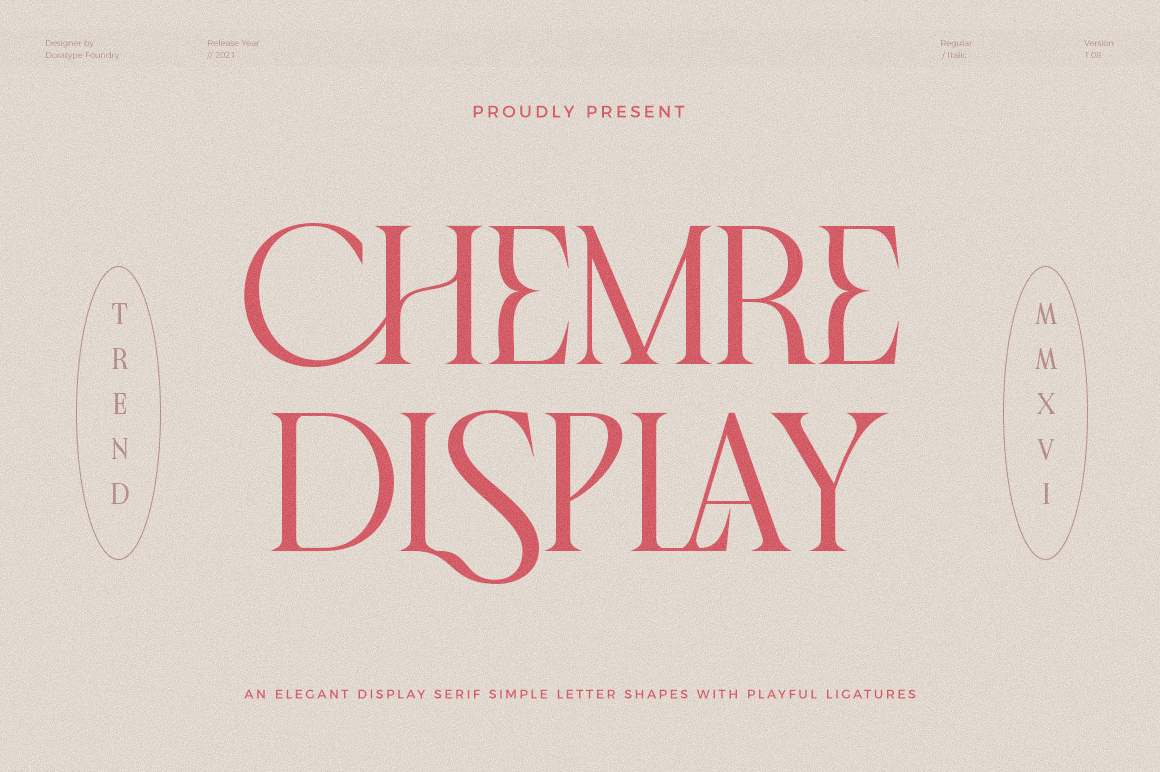 Chemre - Elegant Serif - CAVER -