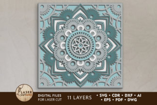 All Freebies - mandala 2 laser cut files lasercutano cover3 -