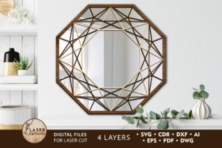 All Freebies - mirror 1 laser cut files lasercutano cover 1 -