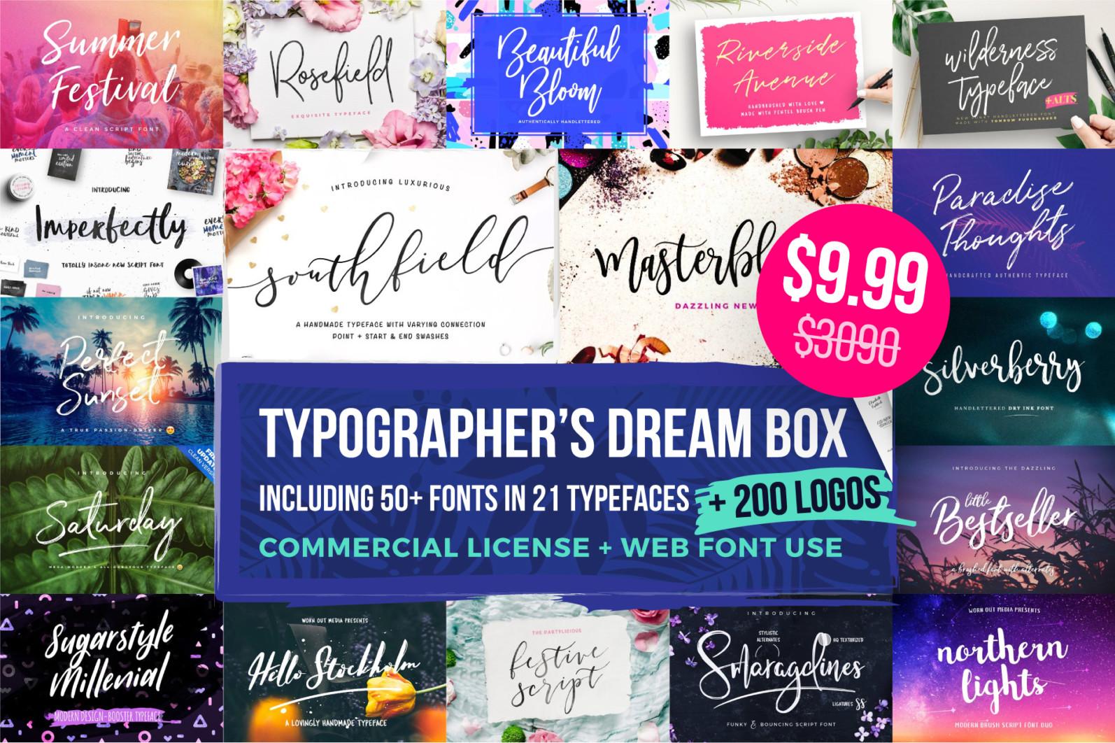 Typographer's Dream Box + 200 Logos - typographers dream box 2021 -