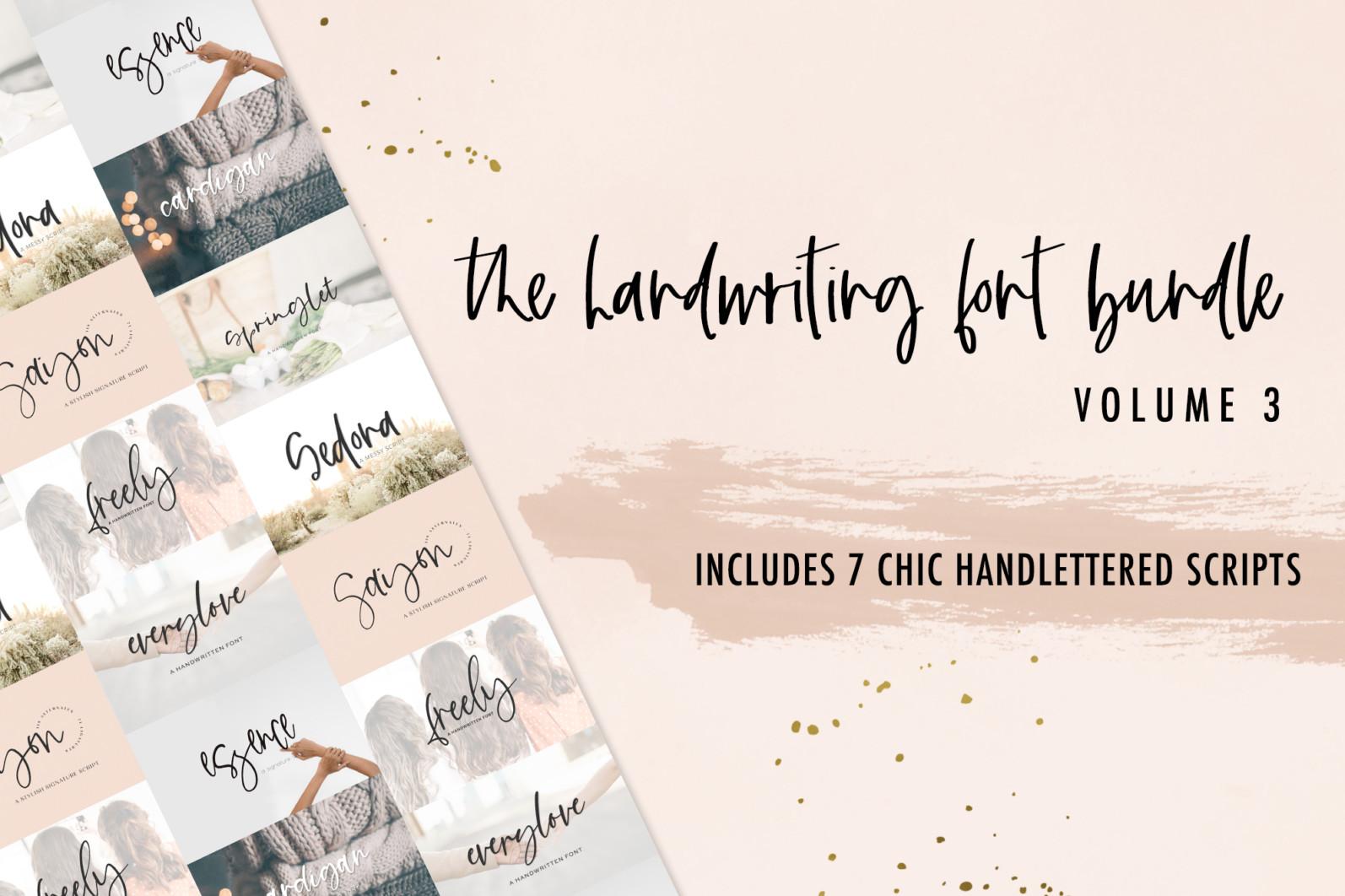 The Chic Handwriting Bundle Vol. 3 - 1 89 -