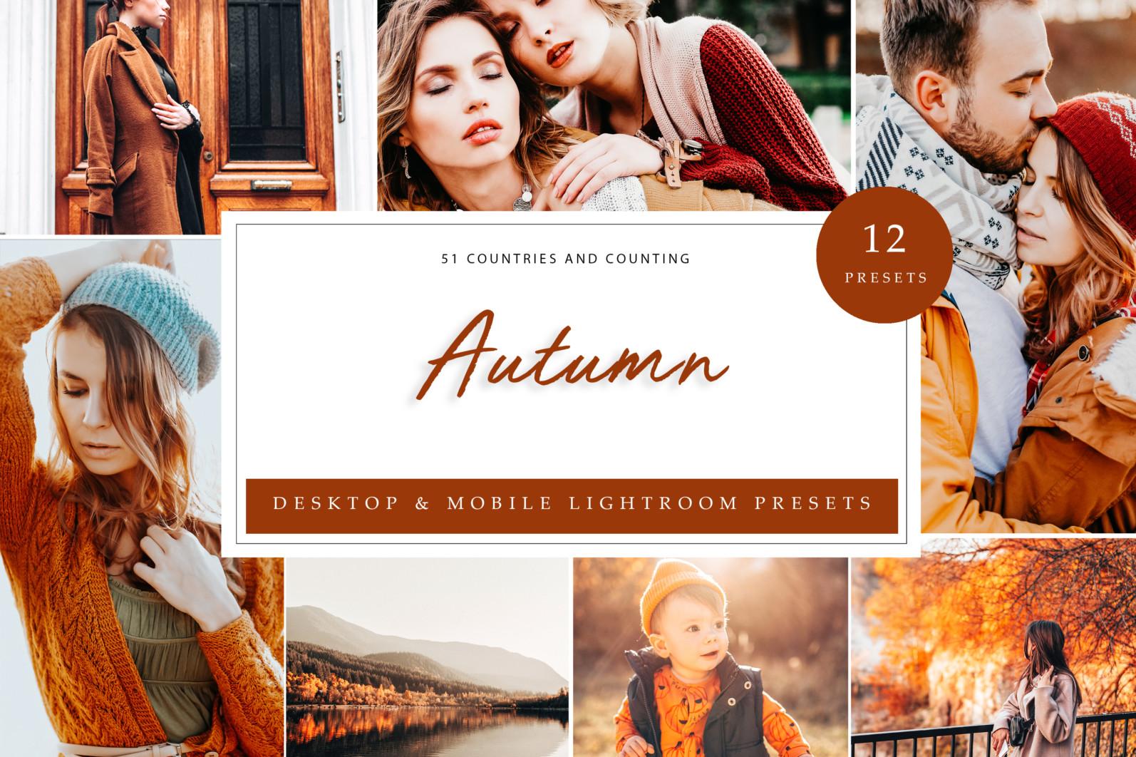 BUNDLE /// 08_Lightroom Collection // 71 x Desktop and Mobile Presets - Autumn LR scaled -
