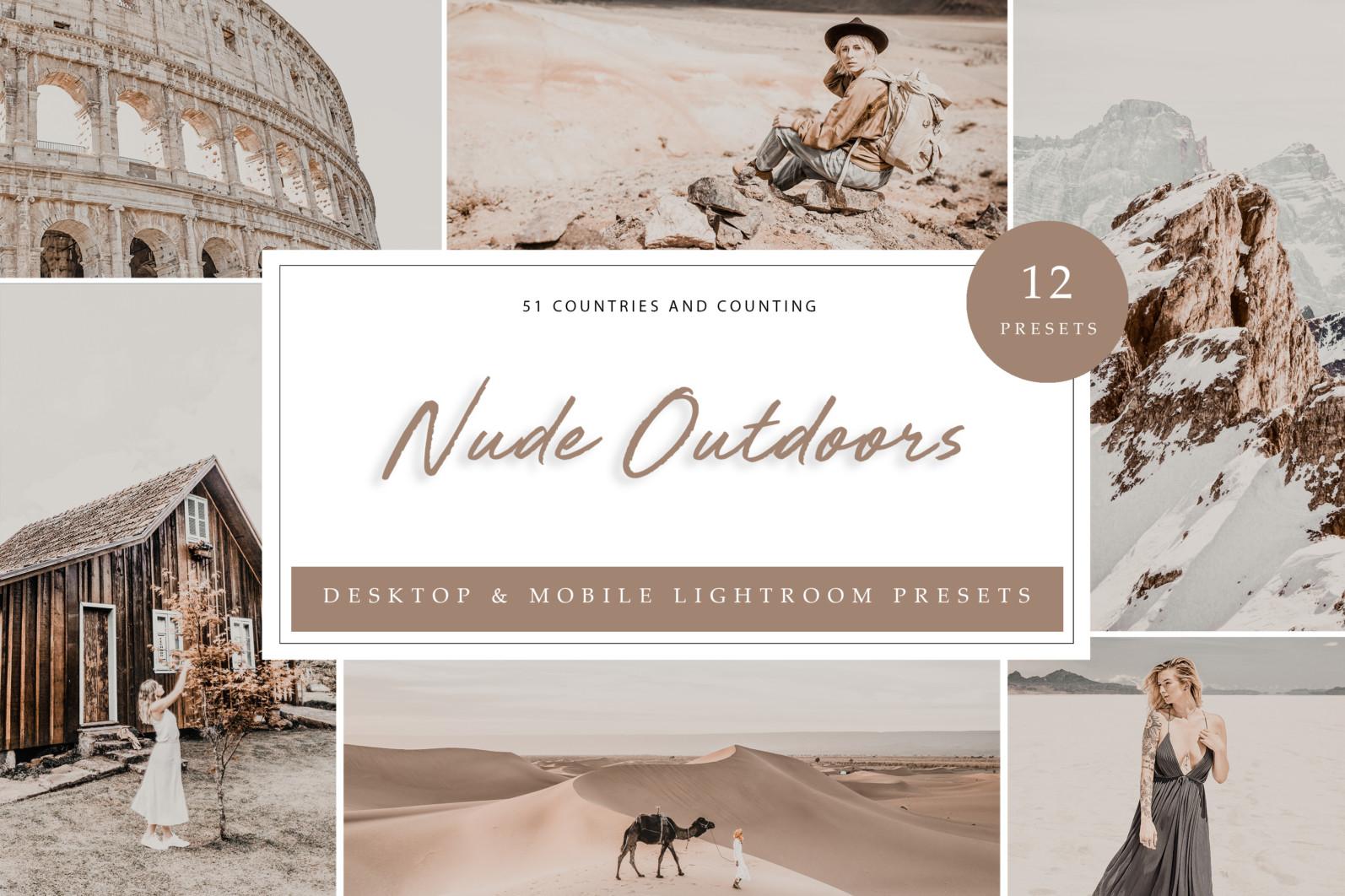 BUNDLE /// 08_Lightroom Collection // 71 x Desktop and Mobile Presets - Nude Outdoors LR scaled -