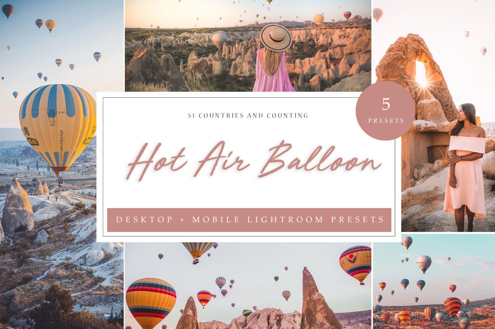 BUNDLE /// 281 x Lightroom Presets for Desktop // 24 Packs // Desktop and Mobile - Hot Air Balloon LR 1 scaled -