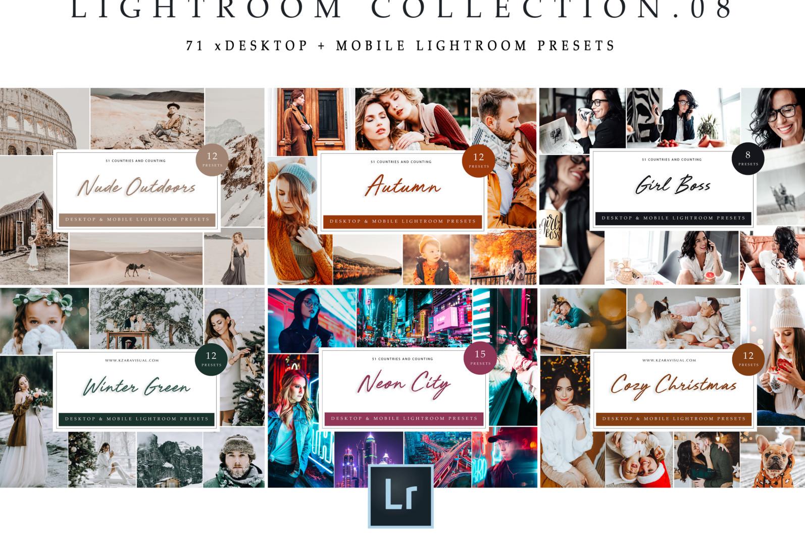 BUNDLE /// 281 x Lightroom Presets for Desktop // 24 Packs // Desktop and Mobile - Lightroom Collection 08 1 scaled -