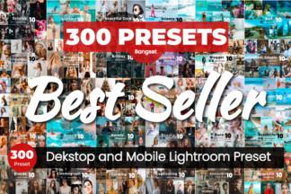 $1 Lightroom Preset Deals - thumbnail produk bundle 300 NEW 1 8sqahm -