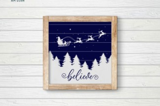 Free SVG Files - PREVIEW believe christmas 0001 AA -
