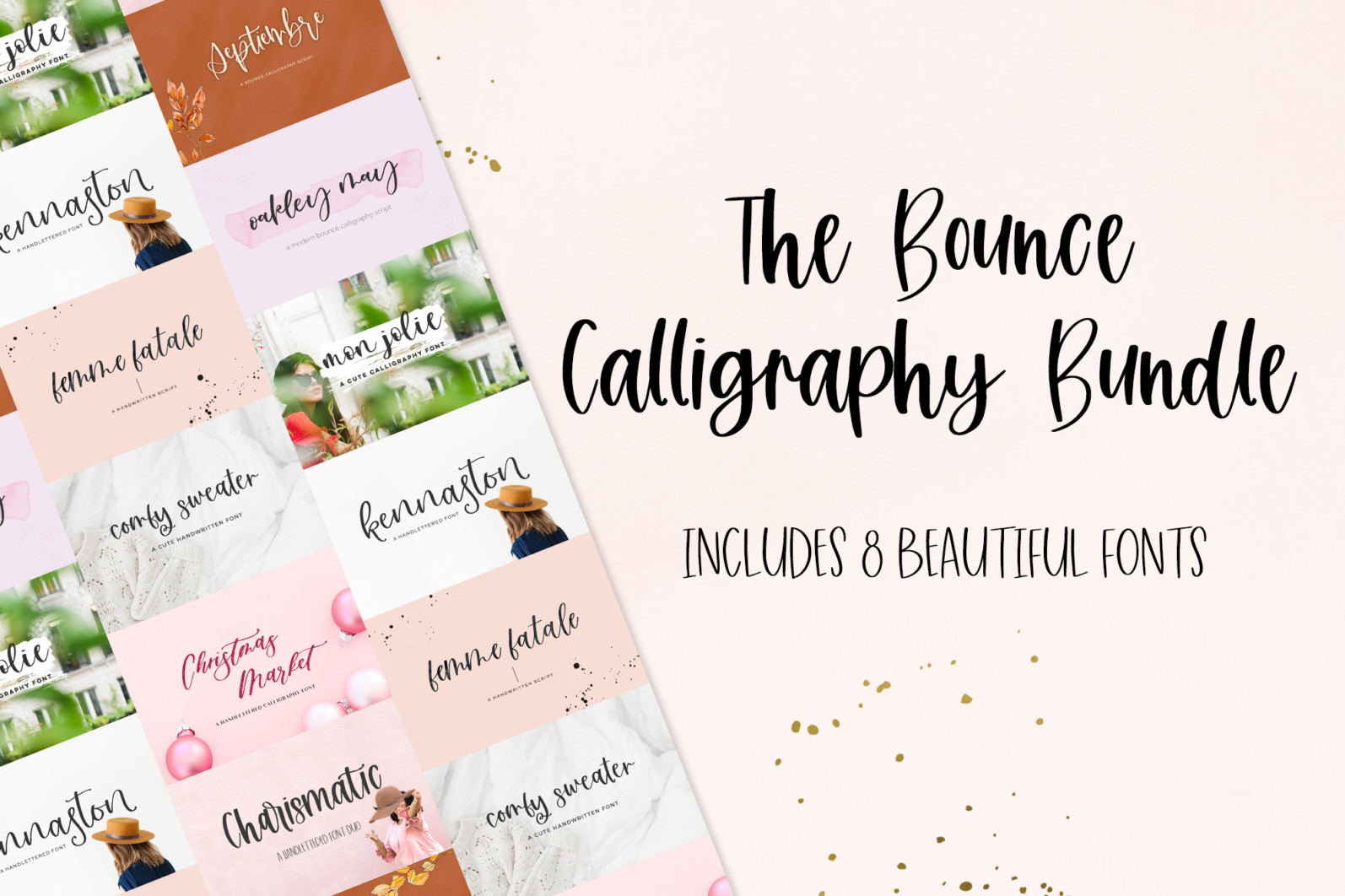 The Bounce Calligraphy Font Bundle - 1 250 -