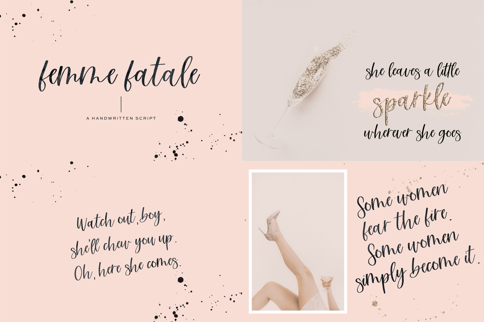 The Bounce Calligraphy Font Bundle - 5 203 -