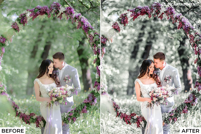 101 Wedding Premium Lightroom Presets - comparision 1 -
