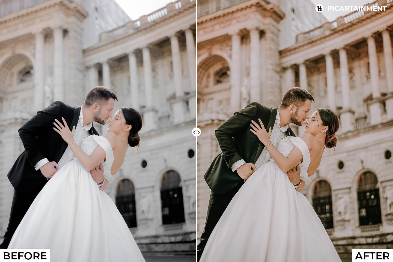 101 Wedding Premium Lightroom Presets - comparision 3 -
