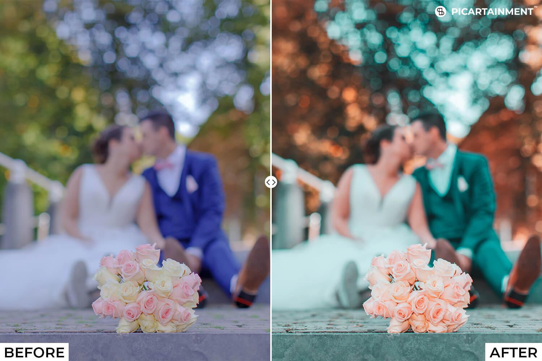 101 Wedding Premium Lightroom Presets - comparision 8 -