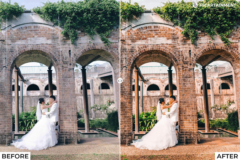 101 Wedding Premium Lightroom Presets - comparision 9 -