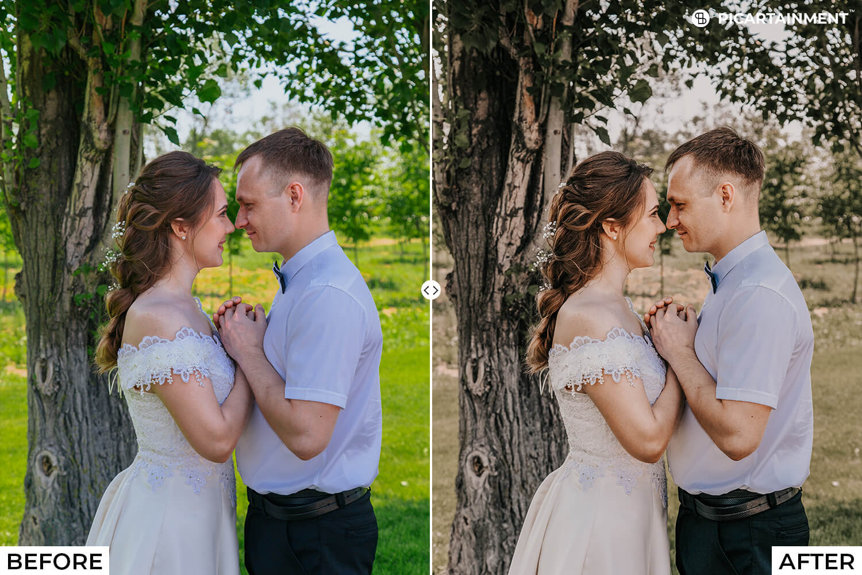 101 Wedding Premium Lightroom Presets - comparision 23 -