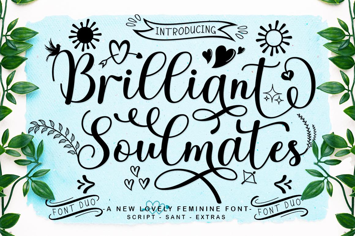 Brilliant Soulmates Font Duo Plus Extras - 1 29 -