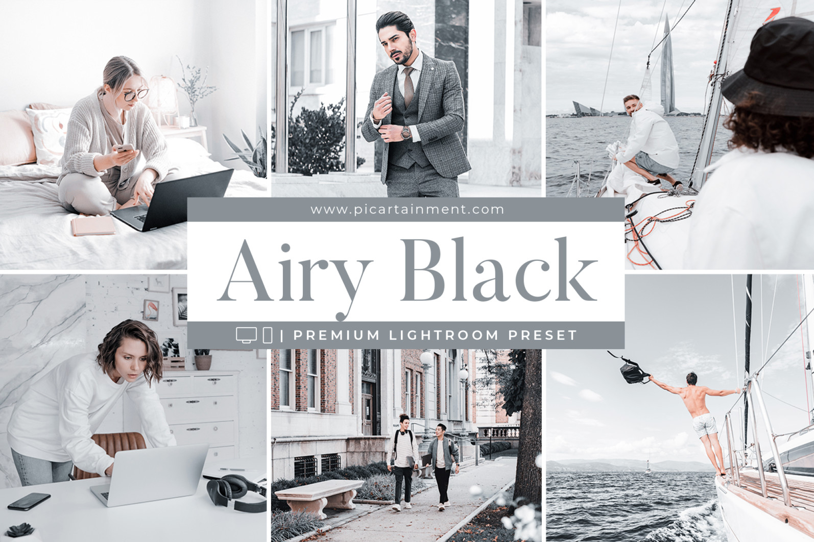 Airy Black x10 Lightroom Presets - Cover 8 -