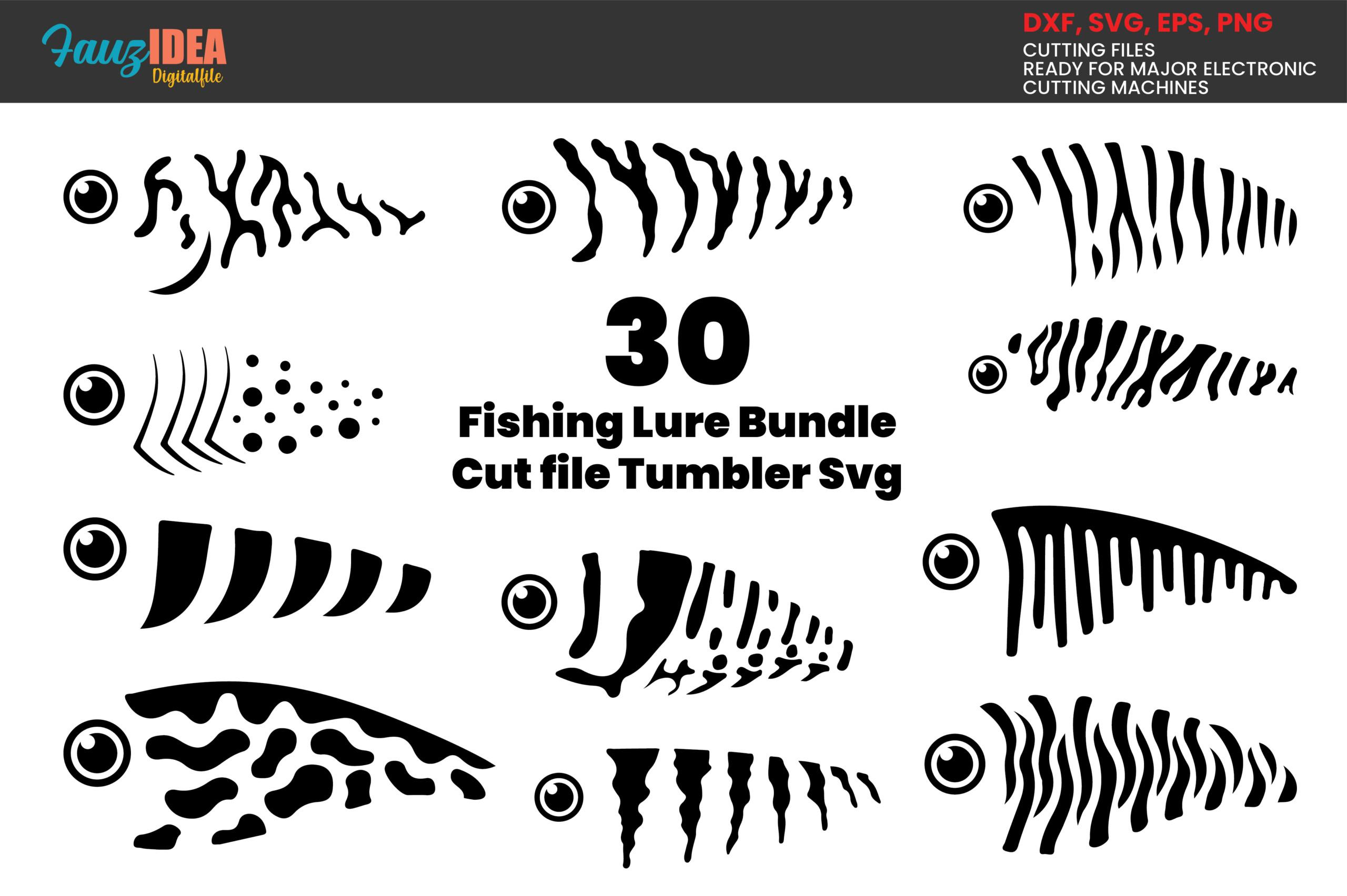Download 30 Fishing Lure Bundle Svg Crella