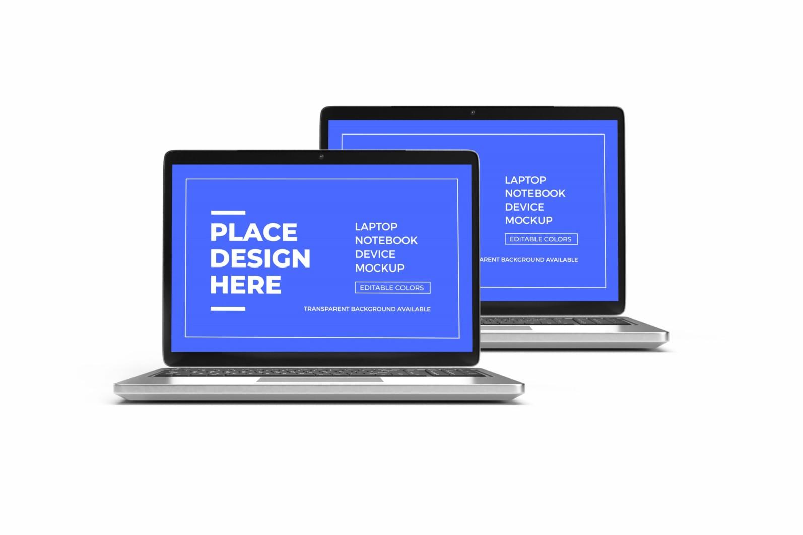 Laptop Notebook Device 3D Mockup Bundle 2 - 01 18 scaled -