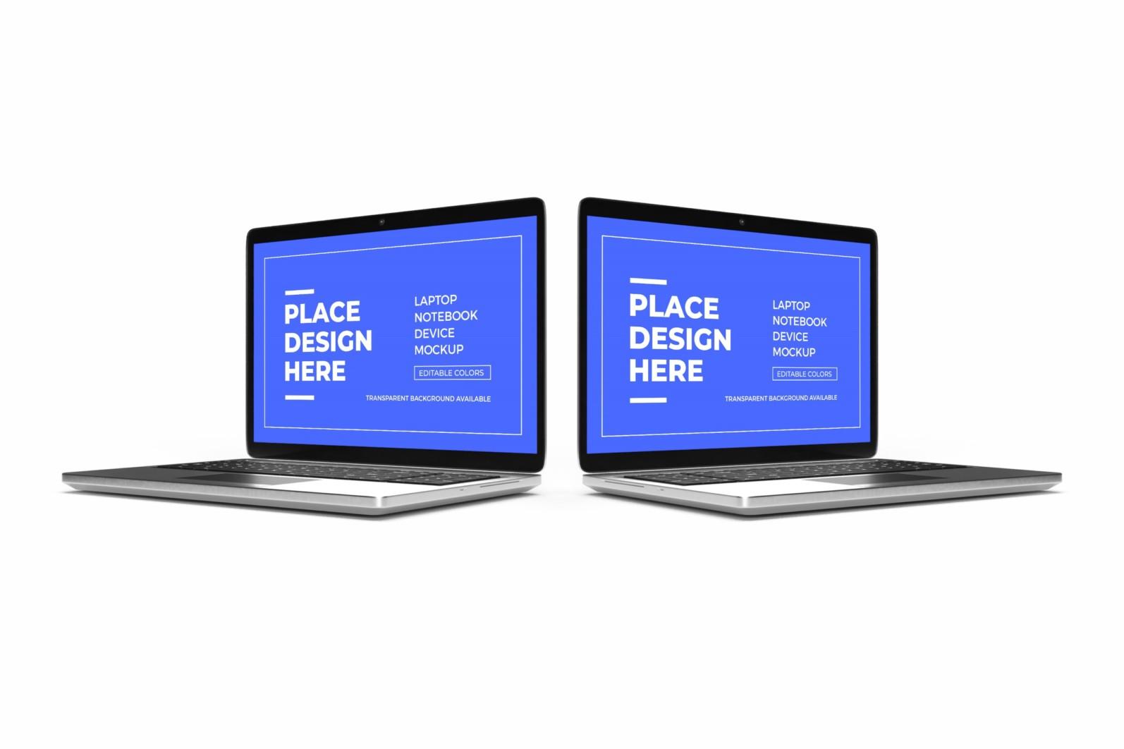 Laptop Notebook Device 3D Mockup Bundle 2 - 02 2 13 scaled -