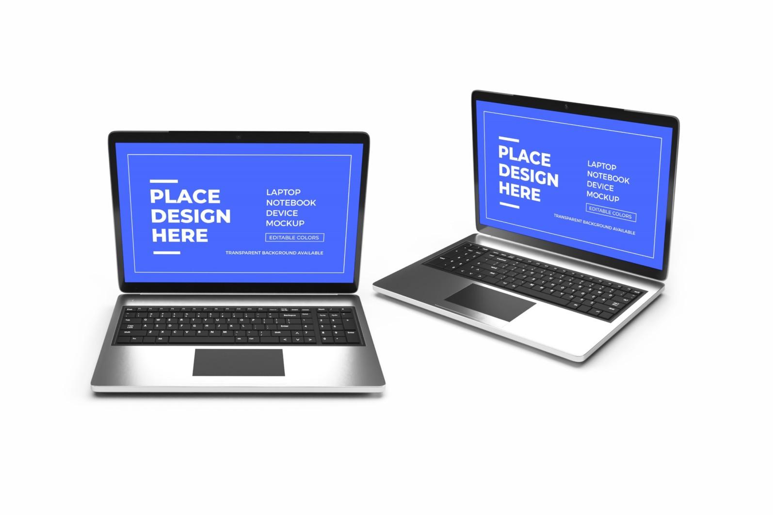 Laptop Notebook Device 3D Mockup Bundle 2 - 05 20 scaled -