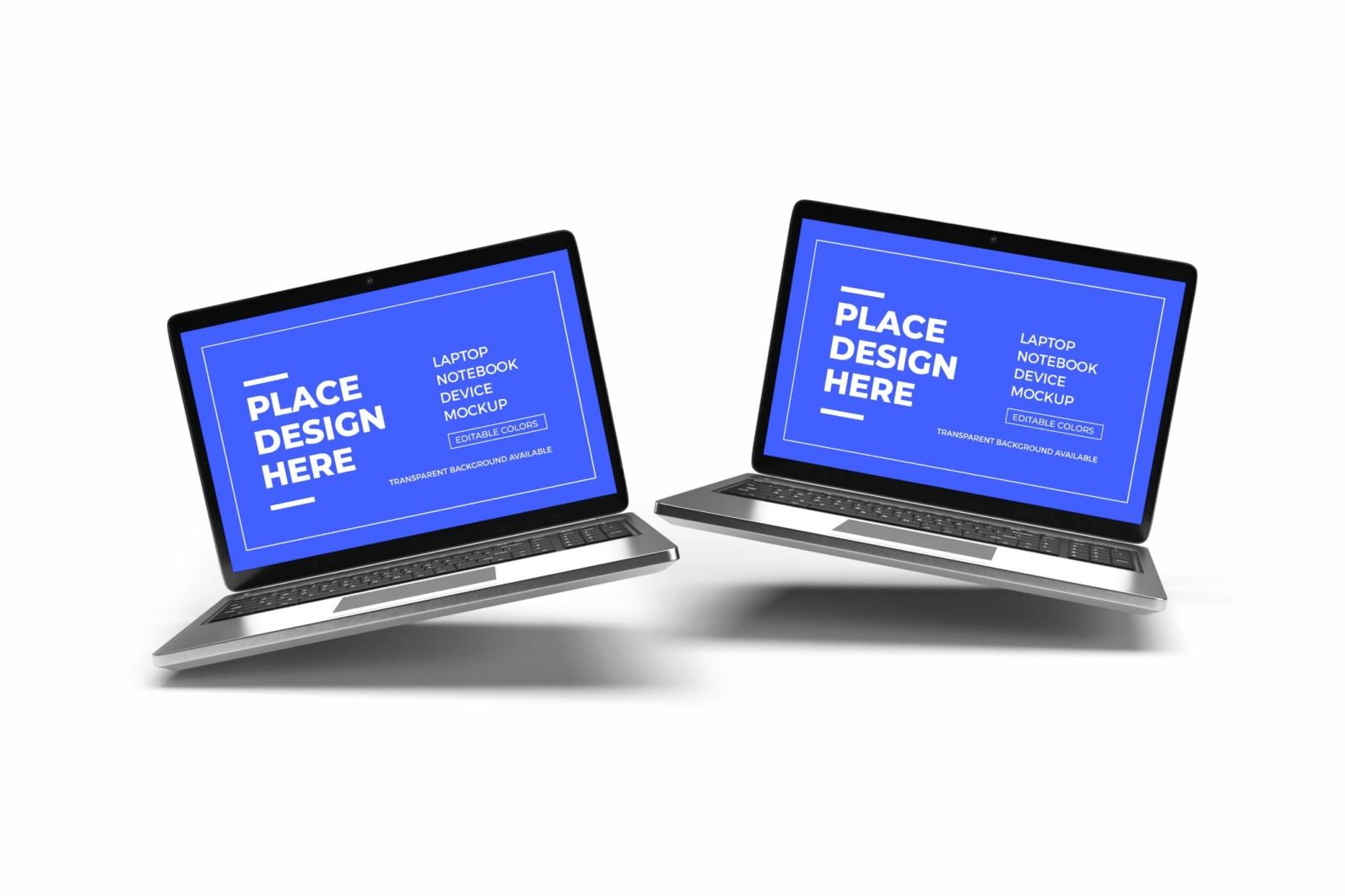 Laptop Notebook Device 3D Mockup Bundle 2 - 07 1 19 scaled -