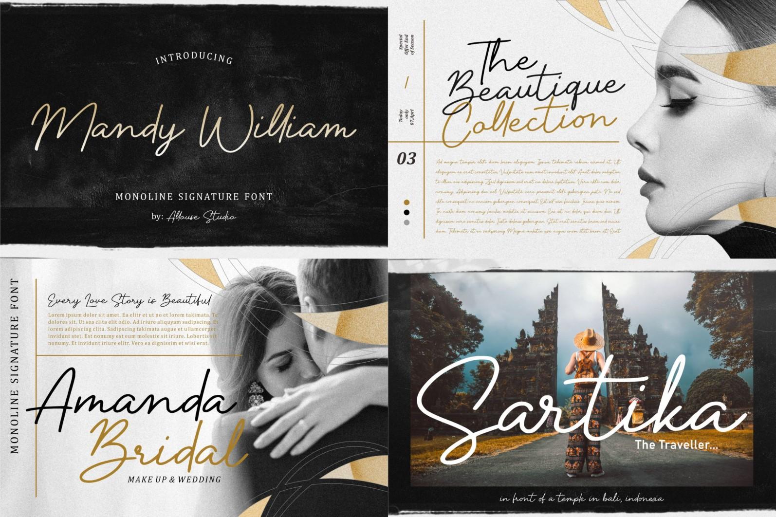 Best Seller 100 Font Bundle - 24 -