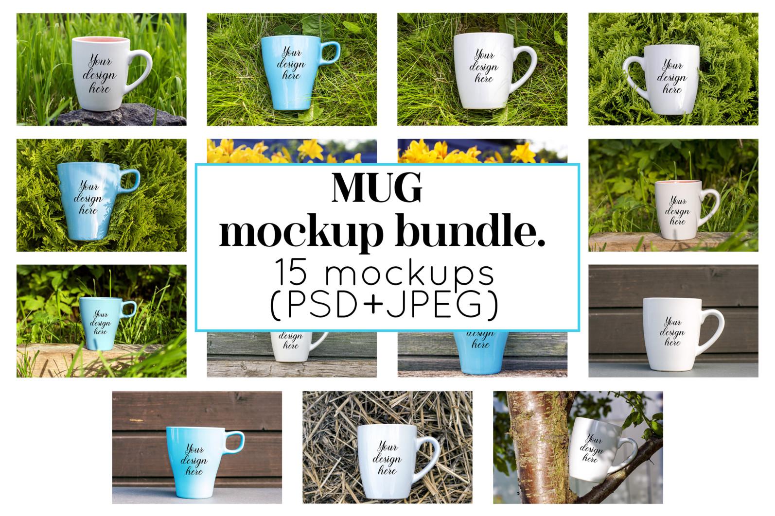 Coffee mug mockup bundle. Mug template bundle. PSD, JPEG files. - 16 42 scaled -