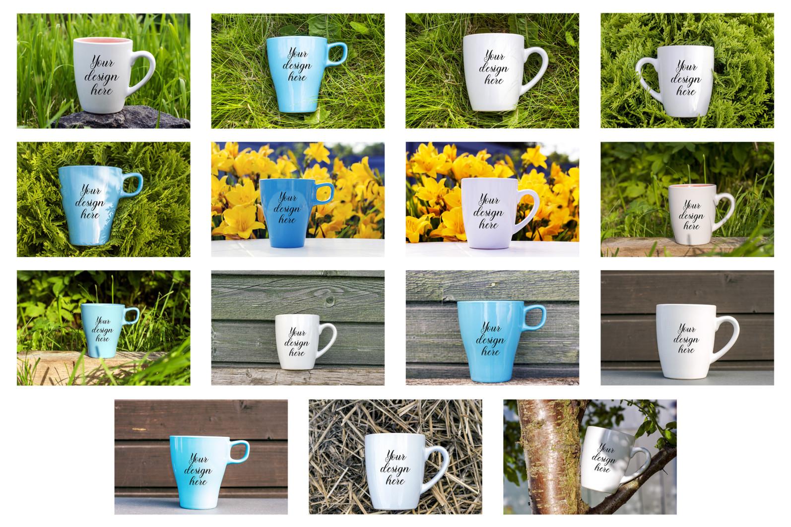 Coffee mug mockup bundle. Mug template bundle. PSD, JPEG files. - 17 24 scaled -