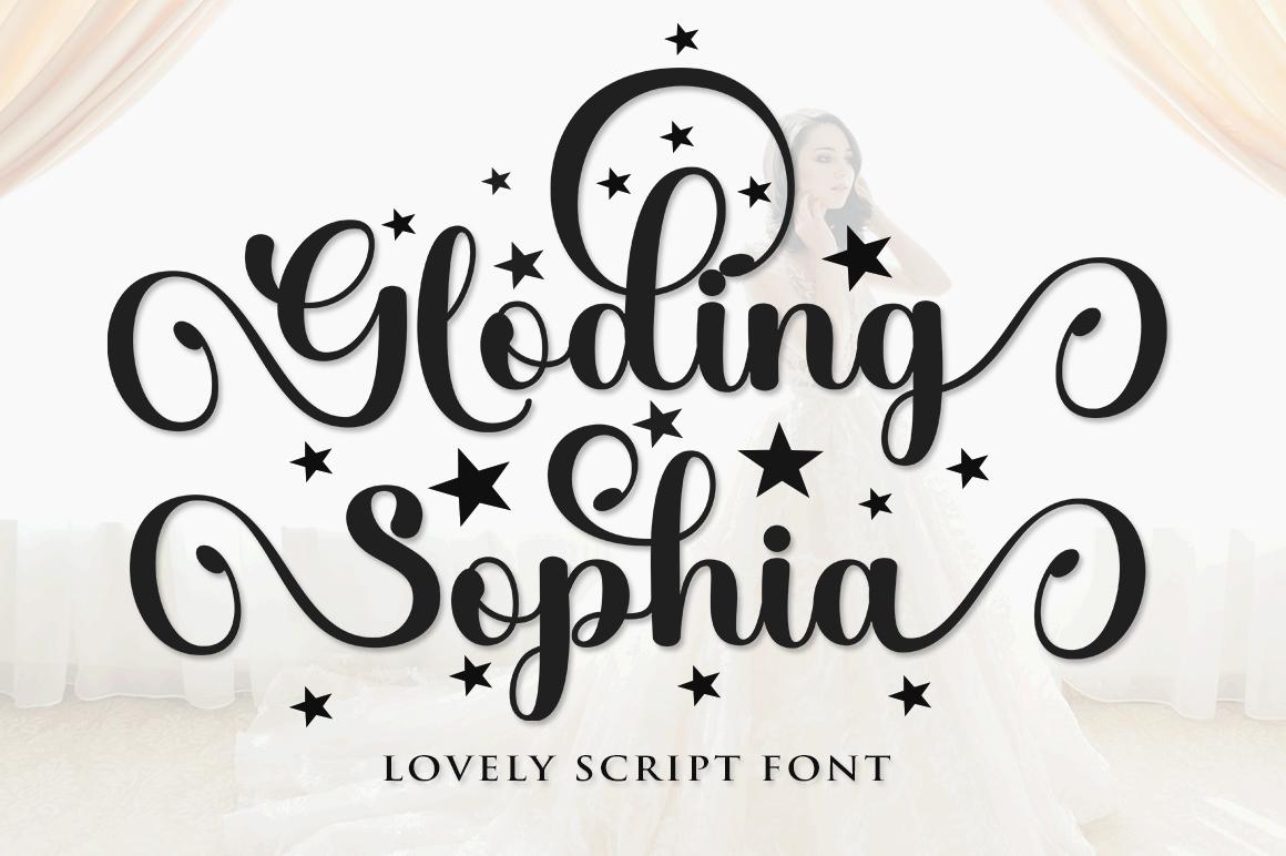 Gloding Sophia Script - 1 528 -