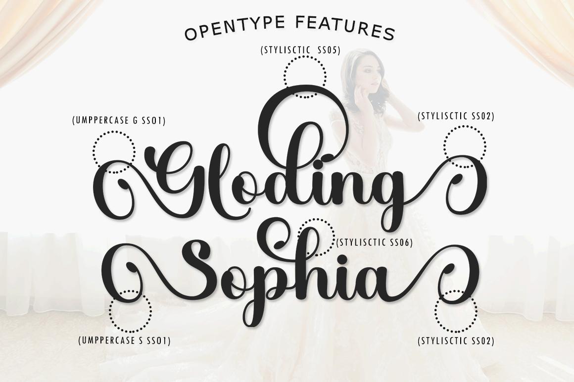 Gloding Sophia Script - 5 211 -