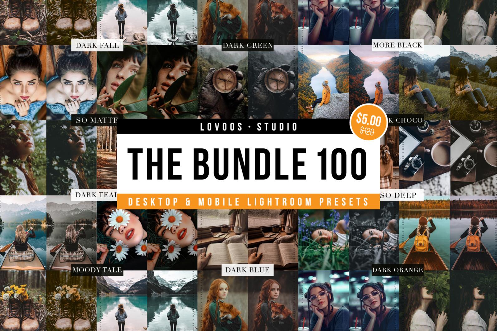 THE BUNDLE 100 - Lightroom Presets - NEW UP COVER 04 -