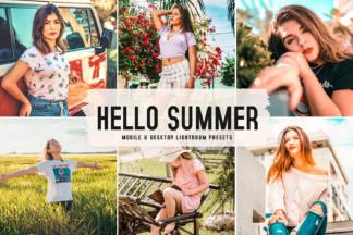 Crella Subscription - Hello Summer Mobile Desktop Lightroom Presets Cover -