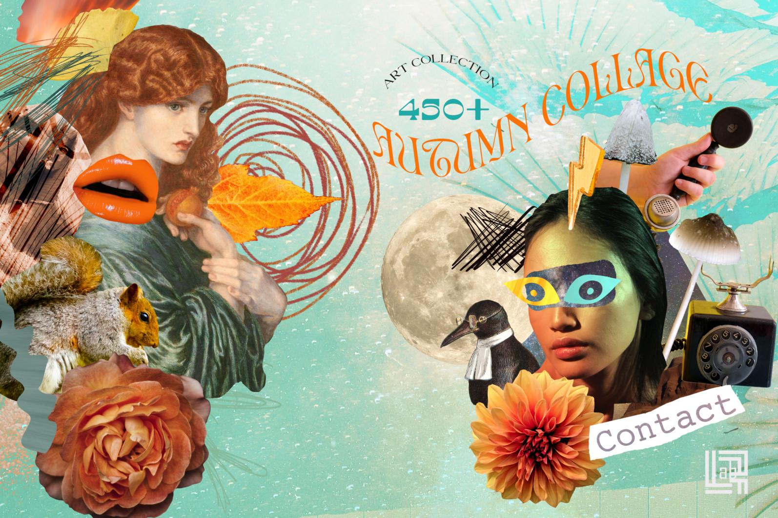 Autumn Collage. Surrealism - CM presentation 1a -