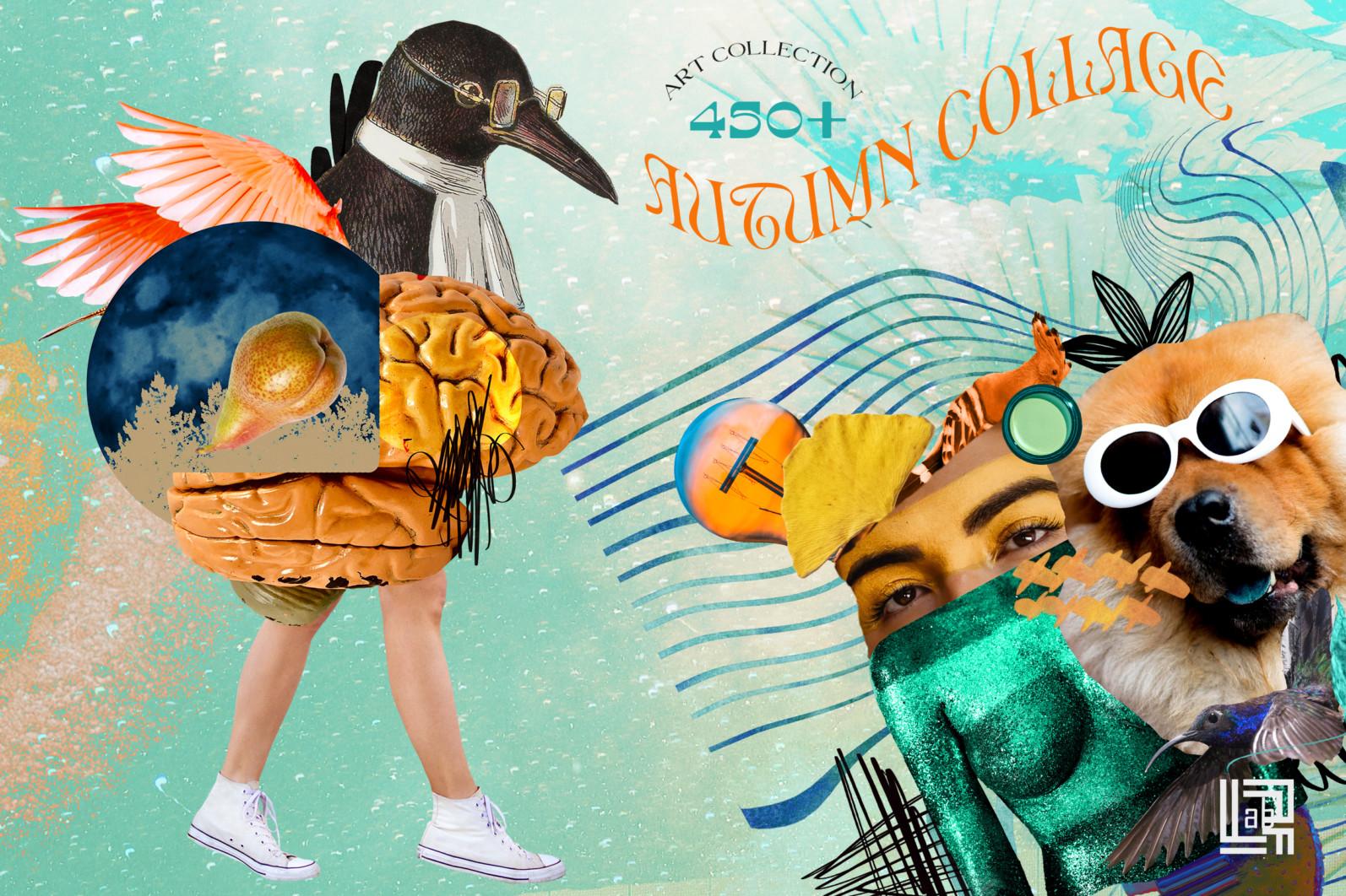 Autumn Collage. Surrealism - CM presentation 1k -